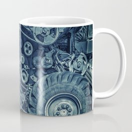Frosted Combine Harvester Agro Art Coffee Mug