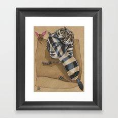 ZEBRA MAMA  Framed Art Print