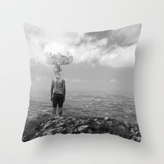 Mind disconnected Throw Pillow