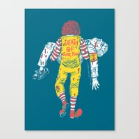 junk food Canvas Prints featuring Death Of Junk Food by ERROR Design