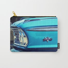 Classic Car: Circa 1960's Turquoise Carry-All Pouch