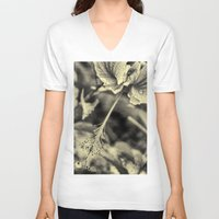 hibiscus V-neck T-shirts featuring Hibiscus by Fredy Mihaila