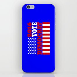 Vote Democrat  iPhone Skin