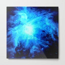 nebulA. Bright Blue Metal Print