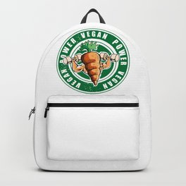 Vegan Power Workout Muscle Carrot Gym Work Backpack