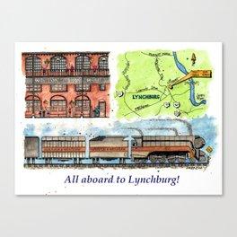 All Aboard to Lynchburg! Canvas Print