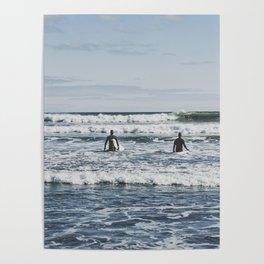 Newport Beach Surfing Poster