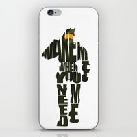 master chief iPhone & iPod Skins featuring Master Chief by Ayse Deniz
