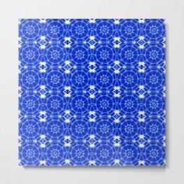 Sapphire Blue Pinwheels Metal Print