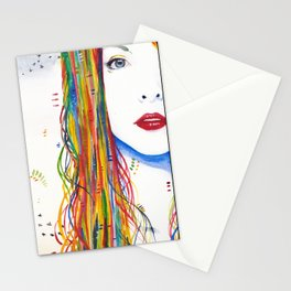 Rainbows and Black birds Stationery Cards