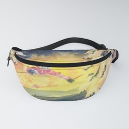 Skiing Art Fanny Pack