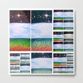 Universal Day and Night Collage Metal Print