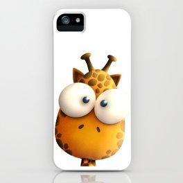 Gigi Giraffe // Big-Eyed Zoo Animal Friend iPhone Case