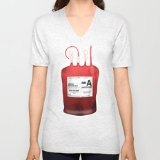 My Blood Type is A, for Awesome! *Classic* Unisex V-Neck
