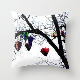 Raining Color Throw Pillow