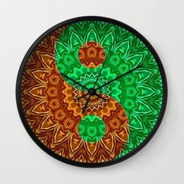 Green-brown Yin a Yang Wall Clock
