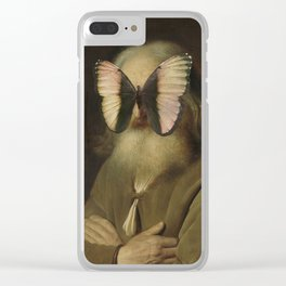 Old Man with a Butterfly Clear iPhone Case