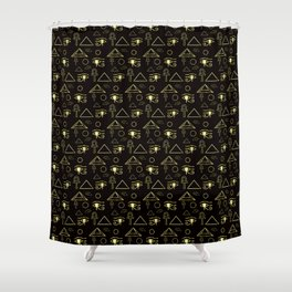 GOLD EGYPT SIMBOLS Shower Curtain