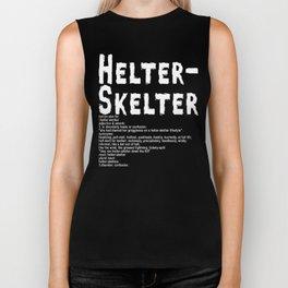 Helter Skelter (white on black) Biker Tank