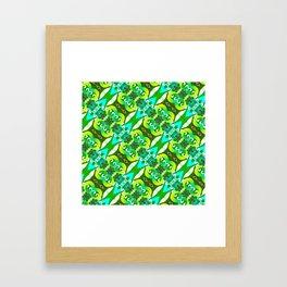 Greeny Pattern Framed Art Print