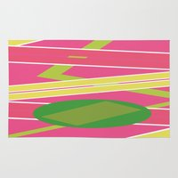 back to the future Area & Throw Rugs featuring Back 2 The Future by TheArtGoon