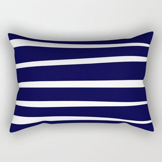 Blue- White- Stripe - Stripes - Marine - Maritime - Navy - Sea - Beach - Summer - Sailor 4 Rectangular Pillow