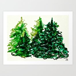 Snowy Boughs Art Print