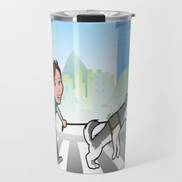 Walking with my dog Travel Mug