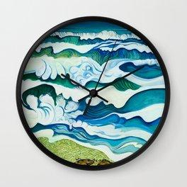 Hahei Beach at High Tide Wall Clock