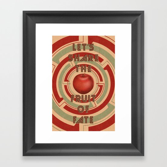 let's share the fruit of fate Framed Art Print