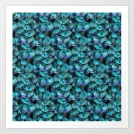 Isis Blue Feather Pattern Art Print