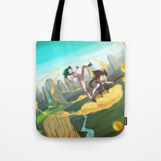 A ride with Son Goku Tote Bag