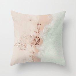 beach - pink champagne Throw Pillow