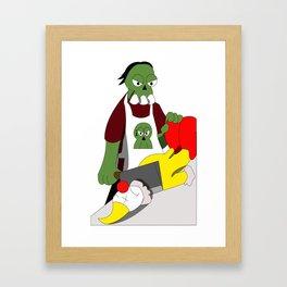Zombie #004: Mikail The Butcher Zombie Framed Art Print