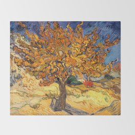 The Mulberry Tree by Vincent van Gogh Throw Blanket