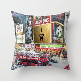 Times Square II Throw Pillow