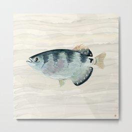 Patriot Fish Swimming in Troubled Waters Metal Print