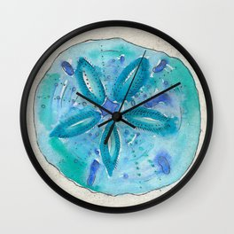Mermaids' Coin - Aqua Sand Dollar Wall Clock