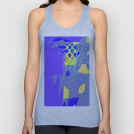 Yellow Square Hatchling  Blue-purple  Abstract Unisex Tank Top