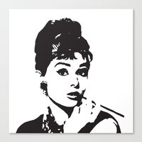 tote bag Canvas Prints featuring Audrey Hepburn, Actress, Film Star, Hollywood, Art, Clothing,   by MONOFACES
