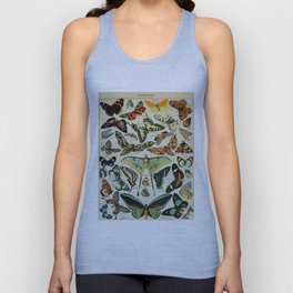 Butterfly Vintage Scientific Illustration French Language Encyclopedia Lithographs Educational Diagr Unisex Tank Top