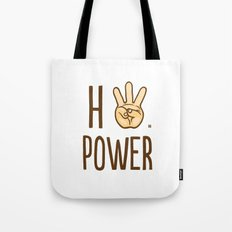 HiiiPower (w/text) : Pale Tote Bag