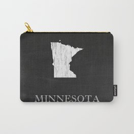 Minnesota State Map Chalk Drawing Carry-All Pouch