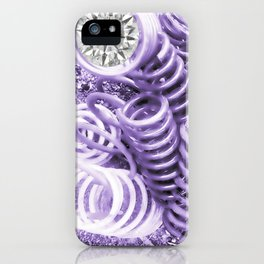 Lilac Industrial Composition iPhone Case