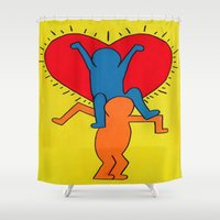 all you need is love Shower Curtains featuring all you need is love by Chiaris