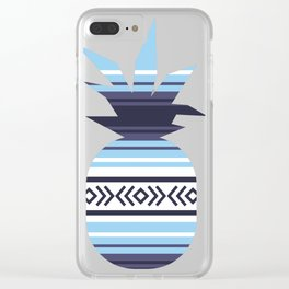 Mexican Blanket Falsa Pattern Pineapple Clear iPhone Case