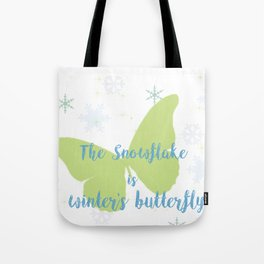 Winter Butterfly Tote Bag