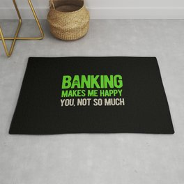 Funny Banker Quote Rug