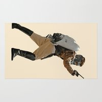 star lord Area & Throw Rugs featuring Rocket-Lord by Parissis
