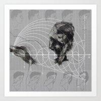 fibonacci Art Prints featuring Fibonacci by eglerama